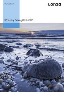 LONZA - QC Testing Catalog 2016-2017